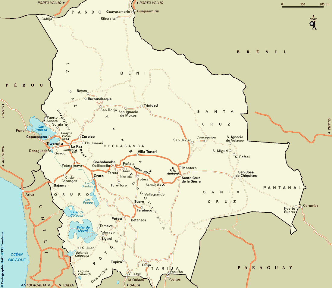 Notre itin�raire en Bolivie