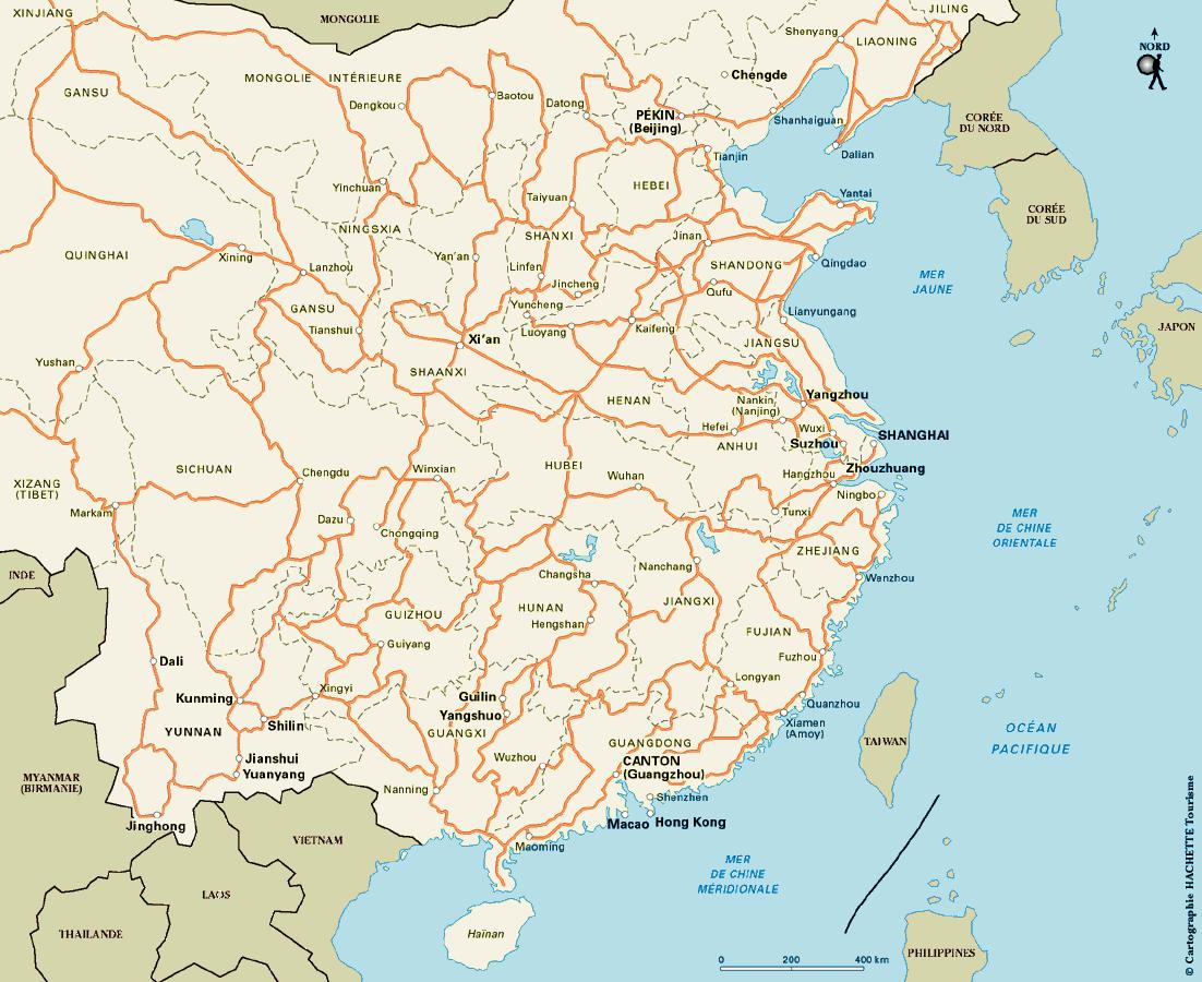 Notre itin�raire en Chine