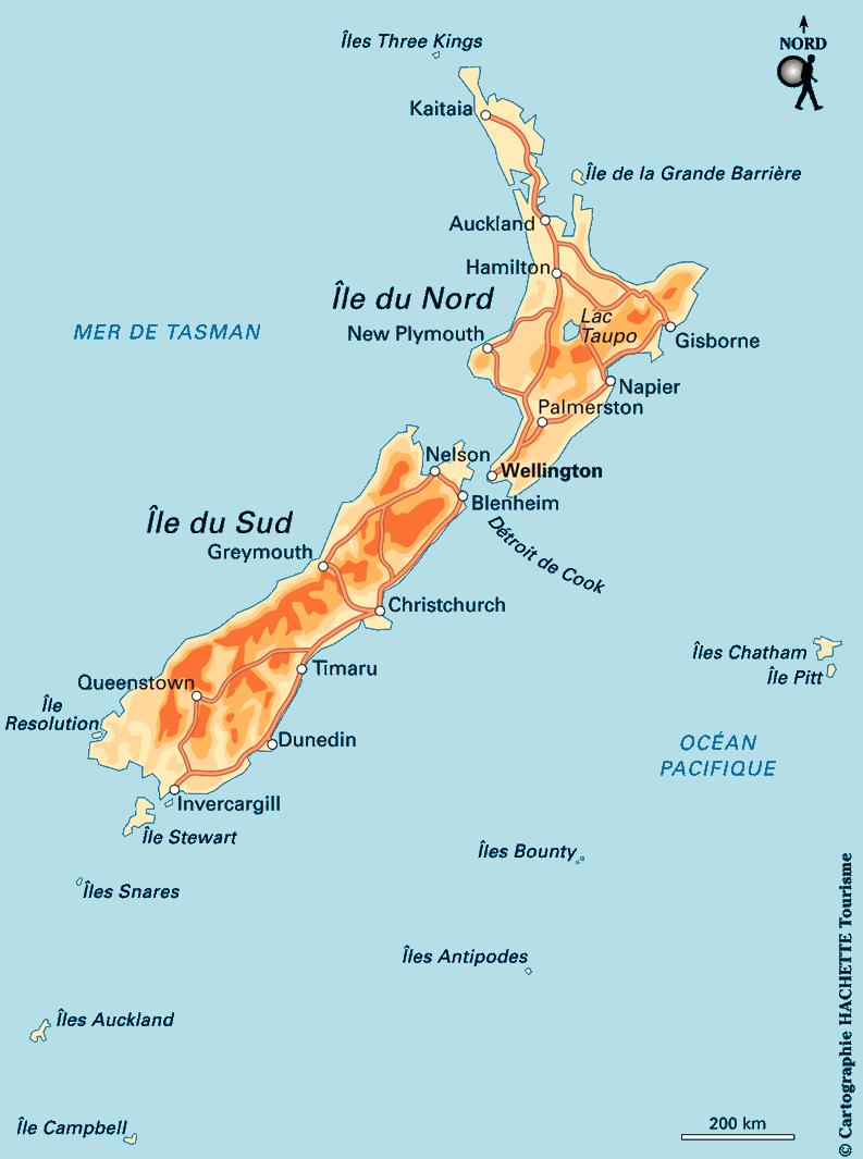 Notre itinéraire en Nouvelle-Zelande