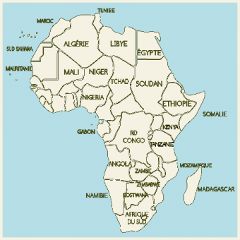 Carte du continent africain