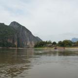 Bateau lent sur le Mékong - Laos