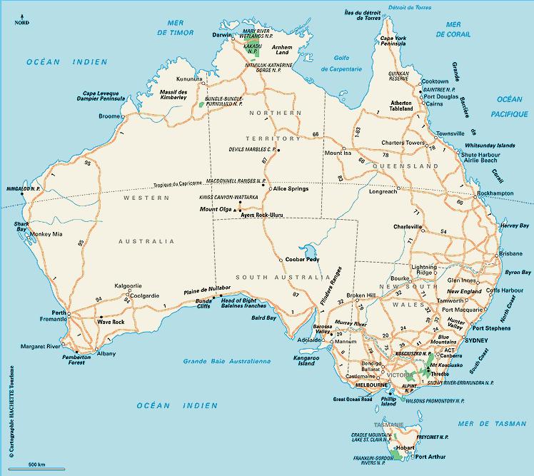 Notre itin�raire en Australie