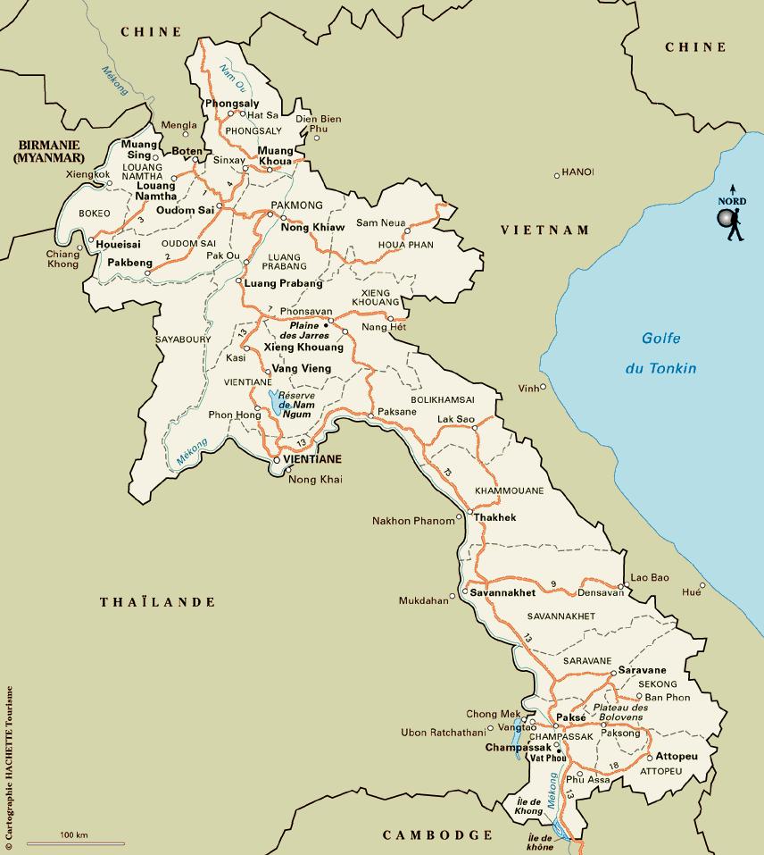 Notre itin�raire au Laos