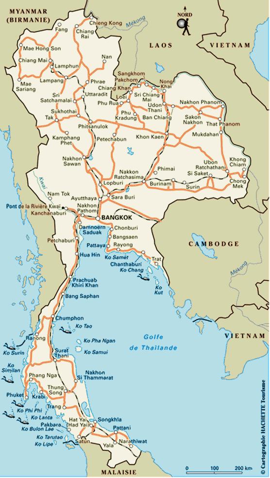 Notre itin�raire en Tha�lande