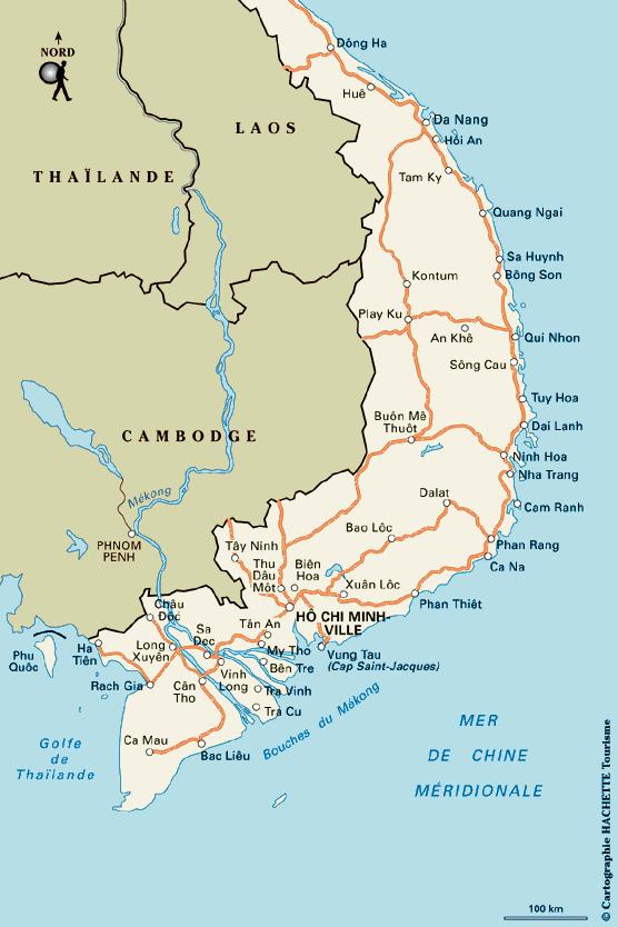 Notre itin�raire en Vietnam